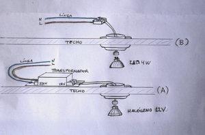 Cambiar lamparas dicroicas halogenas por dicroicas led