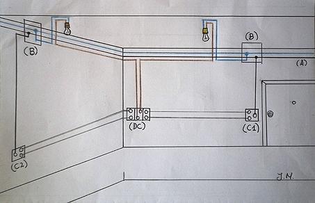 Esquema electrico con un conmutador doble circuito - Interruptor doble conmutador ...