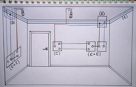 Hacer un puente entre enchufe y interruptor o conmutador