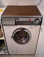 La lavadora da corriente al tocarla
