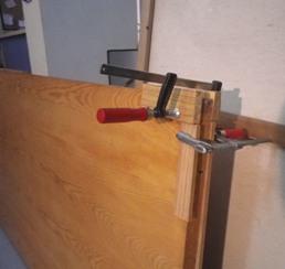 Reparar puerta hinchada