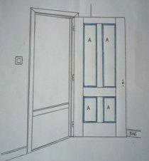 Cómo pintar puertas con entre paños